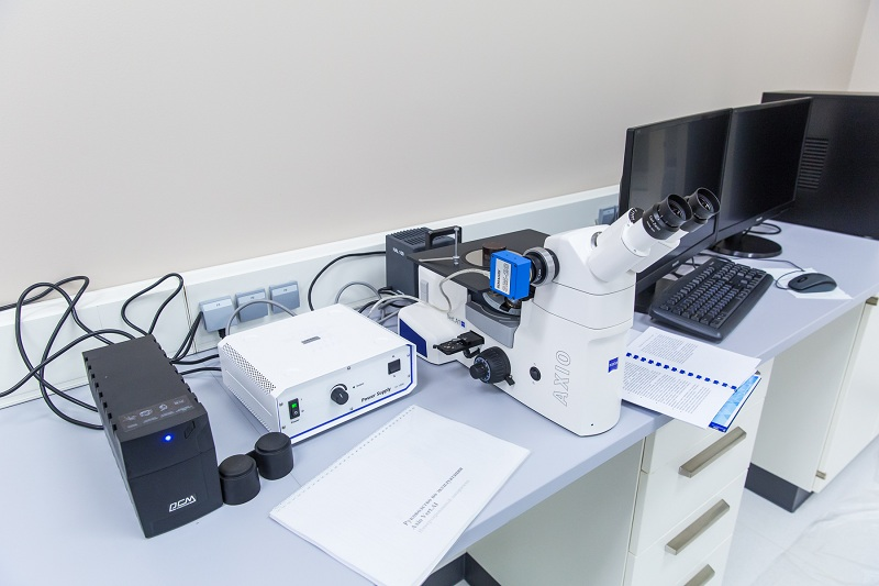 Inverted metallographic microscope