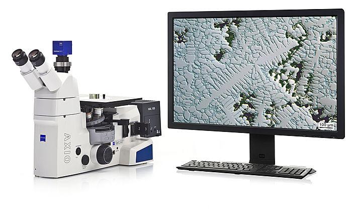 Для Центральной заводской лаборатории закуплен новый металлографический инвертированный микроскоп Carl Zeiss Axio Vert.A1 MAT. (Германия).