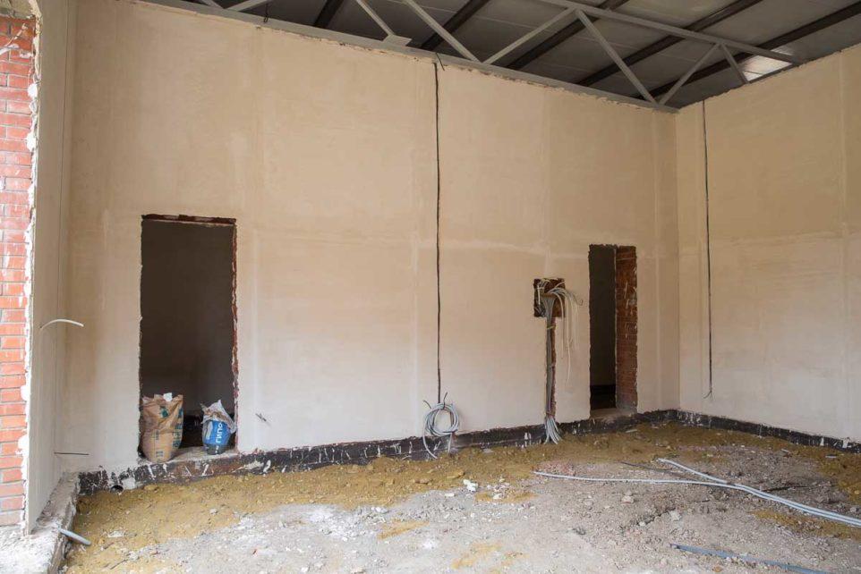 Concrete construction for new heat treatment shop