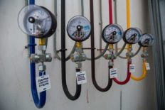 Installation of the line of chemical-thermal treatment
