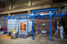 The new powder coating chamber is fully operational