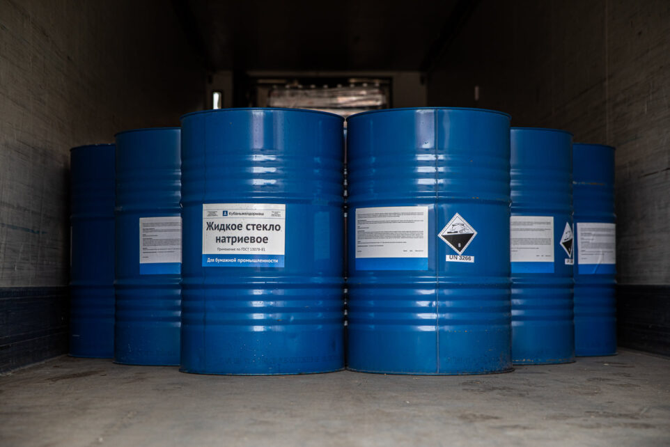 shipment of liquid glass to Georgia