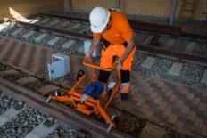 Rail head grinding machine MRS-1 working